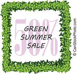 summer sale green frame