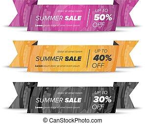 Summer sale horizontal banners