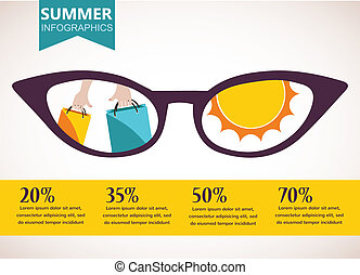 summer sale infographics