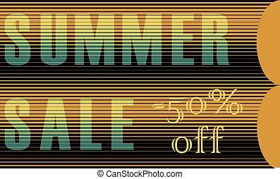 Summer Sale Inscription. Striped Letters - Summer Sale...