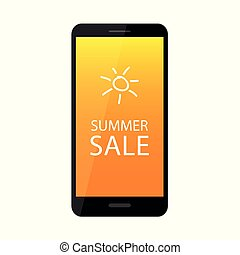 summer sale offer in a black smartphone