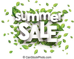 Summer sale paper background.