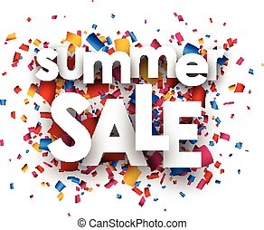 Summer sale paper background. - Summer sale paper white...