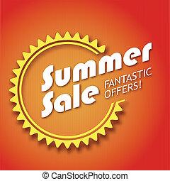 Summer sale poster,  vector illustration