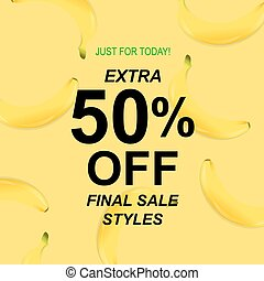 Summer Sale Poster With Banana