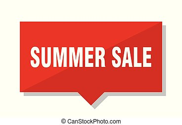 summer sale red tag