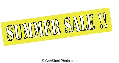 Rubber stamp with text summer sale inside, vector illustration