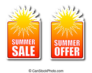 Summer sale Summer offer badges