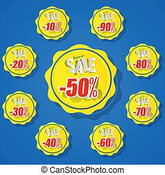 Summer Sale Sun Badges