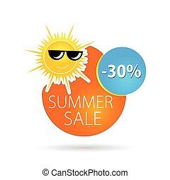 summer sale sun happy color vector