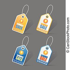 Summer sale tags