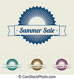 Summer Sale tags, vector illustration