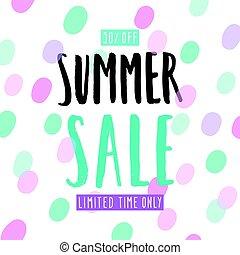 Summer sale template.
