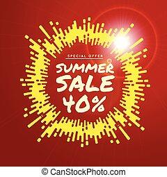 Summer sale vector background