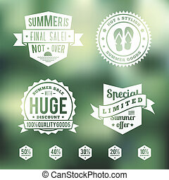 Summer Sale Vintage Badges Set