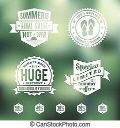 Summer Sale Vintage Badges Set