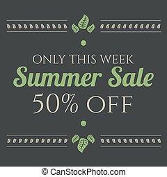 Summer sale vintage banner