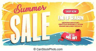 Summer Sale Wide Banner