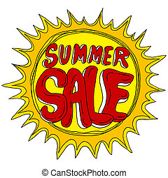 Summer Sale with Sun
