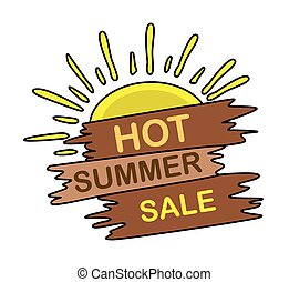 Summer Sale Wood Banner