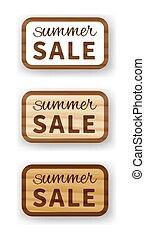 Summer sale wooden billboard