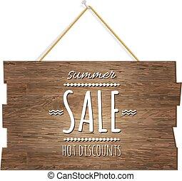 Summer Sale Wooden Board