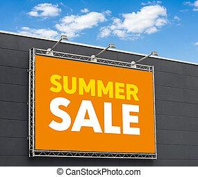Summer Sale written on a billboard