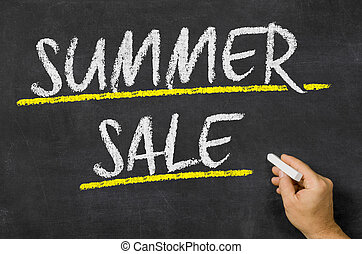 Summer Sale written on a blackboard