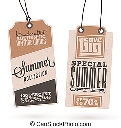 Summer Sales Hang Tags - Collection of Vintage Summer Sales...
