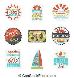 Summer sales labels