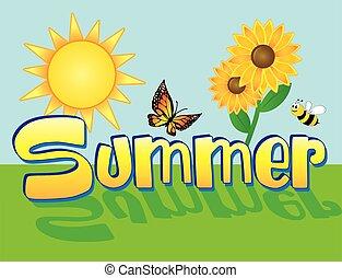Summer Scene Background