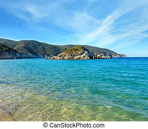 Summer sea coast, Sithonia, Greece