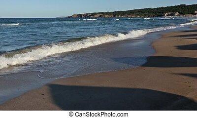 Summer Sea Coast View from Beach.