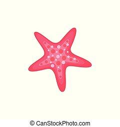 Summer Sea Creature, Tropical Starfish Isolated - Starfish...