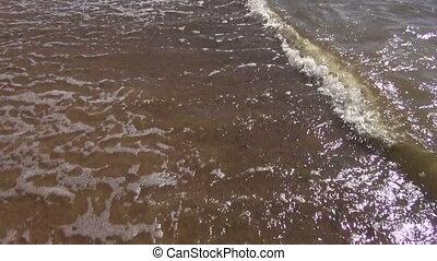 summer sea fresh waves on sand