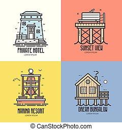 Summer Sea Resort Travel Icons