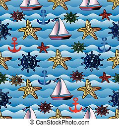 Summer sea seamless pattern