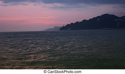 Summer sea sunset. - Videography in Sochi on the sea during...