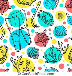 Summer seamless pattern.