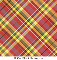 Summer seamless pattern madras check fabric texture. Vector ...