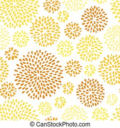 Summer seamless pattern with dandelions