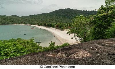 Summer seascape bay on tropical island Koh Phangan in...
