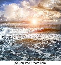 Summer seascape sunrise