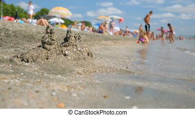 Summer seaside beach view