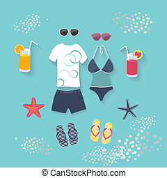 Summer seaside holiday or tropical travel - Summer seaside...