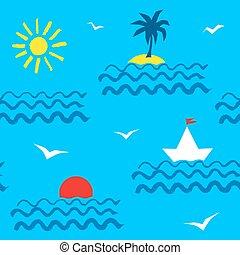 Summer seaside pattern
