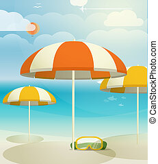 Summer seaside vacation illustration
