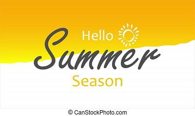 Summer season background, art video illustration.