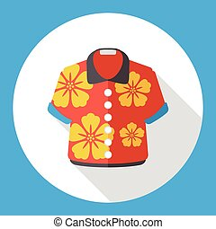 summer shirt flat icon