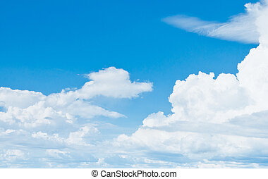 Summer sky and good weather. White clouds